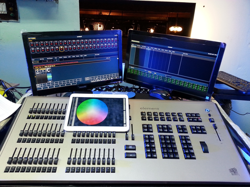 Wireless light control for the Youth Theater