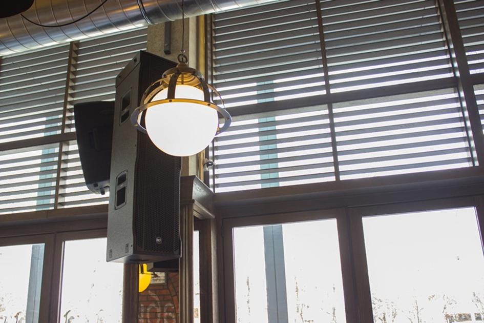 Rcf Sound System In The Bar Restaurant Kod Brke