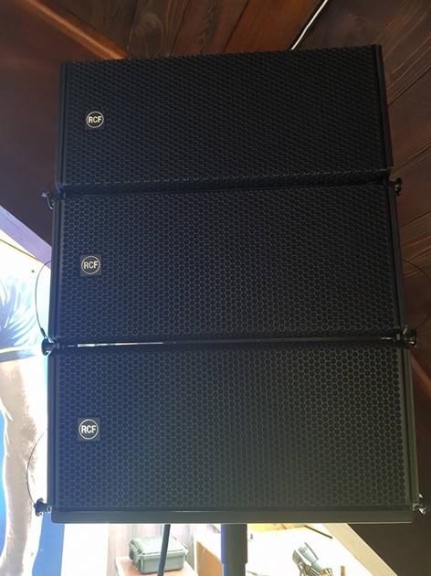 RCF HDL 6-A Line Array Sound System for Atomic Visual Support