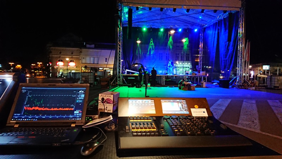 Mobile Stage Trussing Sound And Lighting For The City Of